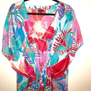Talbots colorful sheer cover up